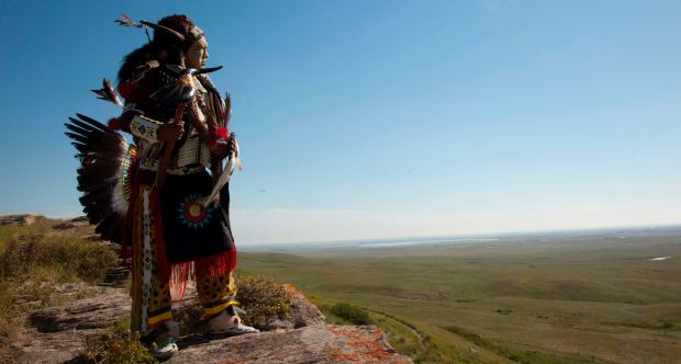 Figure 6. Head-Smashed-In Buffalo Jump is more than a repository of buffalo bones, arrowheads, and drive lanes: it's a sacred site revered and respected by modern Blackfoot. Image courtesy of Alberta Culture and Tourism.