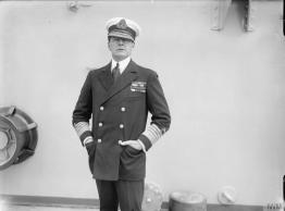 """Vice Admiral Sir David Beatty, 1917, with his trademark cap tilt. Commander of the first Royal Navy cruiser squadrons to engage in the Battle of Jutland. Following the explosions and sinking of HMS Indefatigable and HMS Queen Mary, Beatty famously said to the bridge crew of his flagship HMS Lion (which was also on fire), """"There seems to be something wrong with our bloody ships today."""" Image Source: Imperial War Museum, IWM (Q 19571)"""