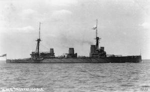 Royal Navy battlecruiser HMS Indefatigable, Imperial War Museum, (c) IWM (Q75281)
