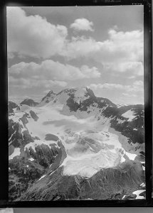 Mount Beatty, taken from the north by the Interprovincial Boundary Survey, 1916. The mountain is named for Vice Admiral Sir David Beatty. Image Source: Mountain Legacy Project, WH160626. http://explore.mountainlegacy.ca/historic_captures/18738.