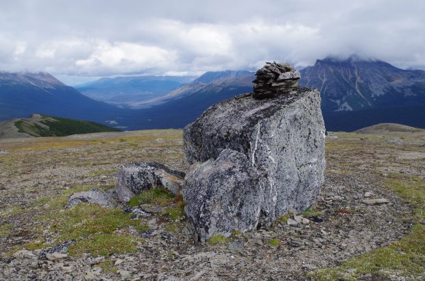 Cairn in Willmore Wilderness Park.