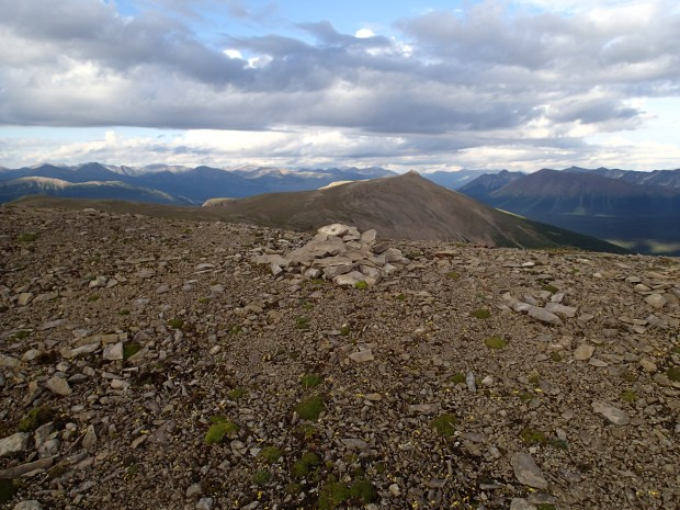 Historic cairn on Intersection Mountain.