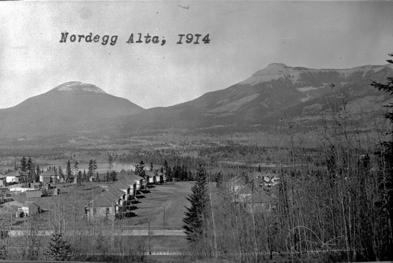 Nordegg, AB, 1914. Source: Provincial Archives of Alberta, A13459