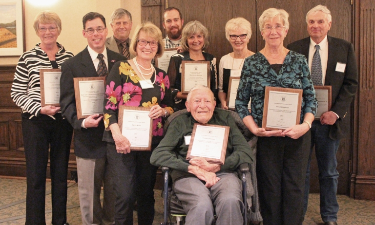 Alberta Historical Resources Foundation 2016 Heritage Award Recipients.