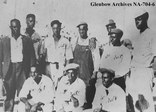 Baseball team, Amber Valley, Alberta ca. 1930. Courtesy of Glenbow Archives NA-704-6.