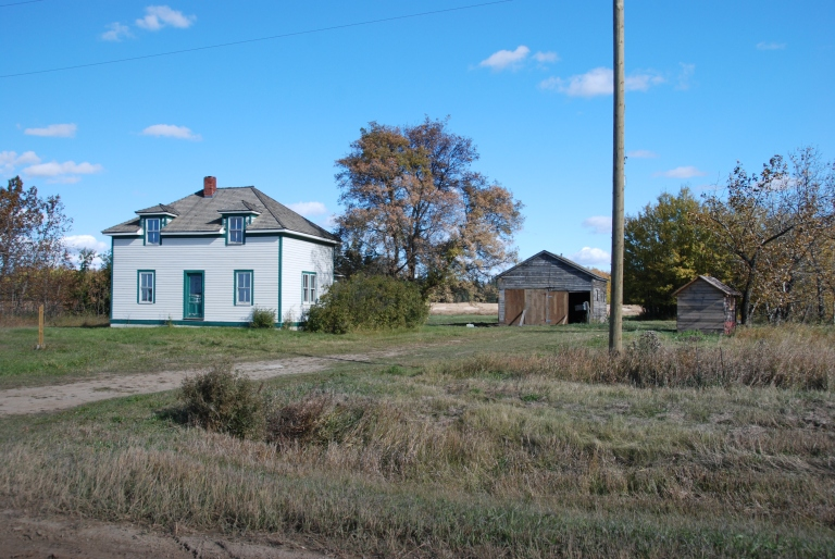 Restored Obadiah Place, courtesy of the Historic Resources Management Branch, Alberta Culture and Tourism.