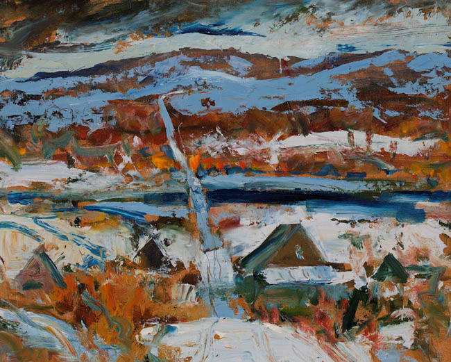 Winter Landscape by William Stevenson (undated). Oil painting. Source: Alberta Foundation for the Arts collection