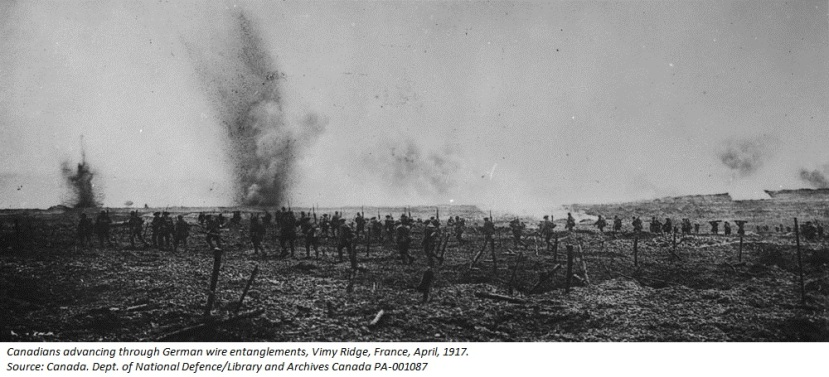 The Battle of Vimy Ridge and Place Names of Waterton Lakes National Park