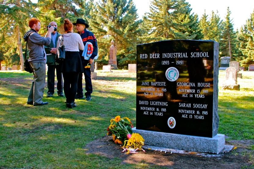 Red Deer Industrial School MonumentUnveiled