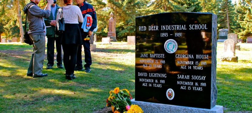 Red Deer Industrial School Monument Unveiled