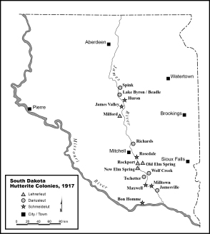 South Dakota Hutterite Colonies, 1917.