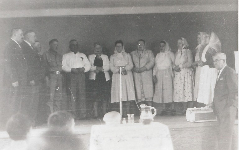 Doukhobor elders singing at a festival