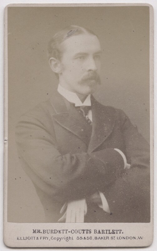 William Lehman Ashmead Bartlett Burdett-Coutts, by Elliot & Fry, albumen carte-de-visite, ca. 1870. Source: National Portrait Gallery, London, NPG x197066. Used under Creative Commons License (CC BY-NC-ND 3.0)